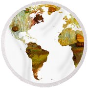 Abstract Map Round Beach Towel