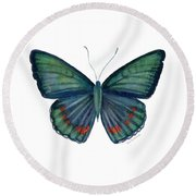82 Bellona Butterfly Round Beach Towel by Amy Kirkpatrick