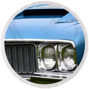 60's Oldsmobile 442 Round Beach Towel