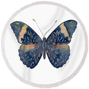 89 Red Cracker Butterfly Round Beach Towel