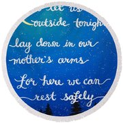 8x10 Dmb So Let Us Sleep Outside Tonight Round Beach Towel