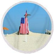 9-11 Beach Memorial Round Beach Towel