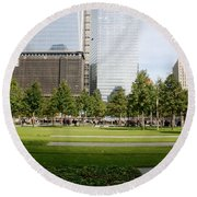 9/11 Grass Round Beach Towel