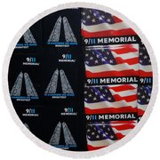 9/11 Memorial For Sale Round Beach Towel