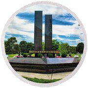 9/11 Memorial Freehold Nj Round Beach Towel
