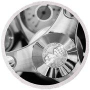 1960 Chevrolet Corvette Steering Wheel Emblem Round Beach Towel by Jill Reger