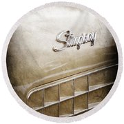 1972 Chevrolet Corvette Stingray Emblem Round Beach Towel