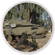 An Israel Defense Force Merkava Mark II Round Beach Towel