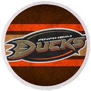 Anaheim Ducks Round Beach Towel