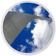 Arch To The Sky Round Beach Towel