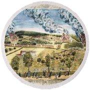 Battle Of Lexington, 1775 Round Beach Towel