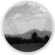Blue Ridge Mountains - Virginia Bw 7 Round Beach Towel