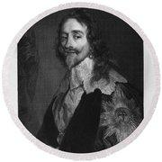 Charles I (1600-1649) Round Beach Towel