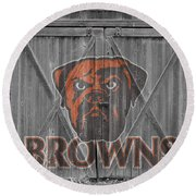Cleveland Browns Round Beach Towel