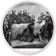 Death Of Lincoln, 1865 Round Beach Towel