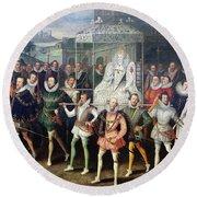 Elizabeth I  (1533-1603) Round Beach Towel