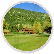 9-hole Golf Course In Autumn At Pine Round Beach Towel