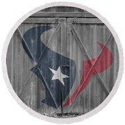 Houston Texans Round Beach Towel by Joe Hamilton