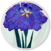 Japanese Flower Round Beach Towel