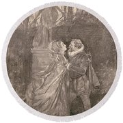Mary Queen Of Scots (1542-1587) Round Beach Towel