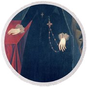 Mary Queen Of Scots Round Beach Towel