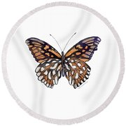 9 Mexican Silver Spot Butterfly Round Beach Towel