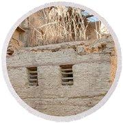 Mud Brick Village Round Beach Towel