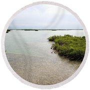 Scenes From Key West Round Beach Towel