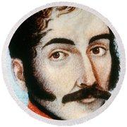 Simon Bolivar (1783-1830) Round Beach Towel