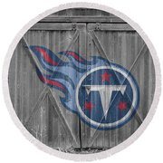 Tennessee Titans Round Beach Towel by Joe Hamilton