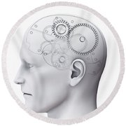 Thought Mechanism Round Beach Towel
