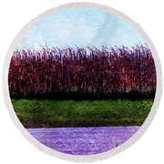Travel As A Painting Round Beach Towel