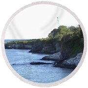 Cliff Walk Round Beach Towel