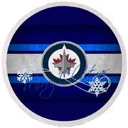 Winnipeg Jets Round Beach Towel