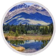 90524-23 In The Bull River Valley Round Beach Towel