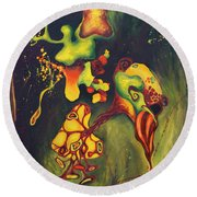 911 Fruit Round Beach Towel