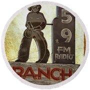 95.9 The Ranch Round Beach Towel