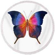 96 Brushfoot Butterfly Round Beach Towel