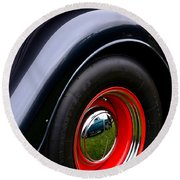 30's Classic Ford Pickup Round Beach Towel