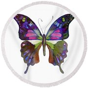 98 Graphium Weiskei Butterfly Round Beach Towel