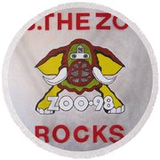 98.the Zoo Rocks Round Beach Towel