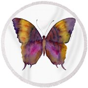 99 Marcella Daggerwing Butterfly Round Beach Towel