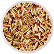 9mm Brass Ammo Round Beach Towel