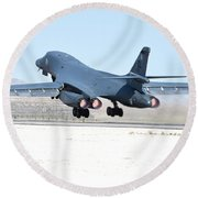 A B-1b Lancer From 28th Bomb Wing Round Beach Towel