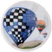 A Balloon Disaster Round Beach Towel