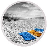 A Beautiful Day Round Beach Towel