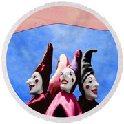 A Bevy Of Jesters Round Beach Towel