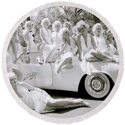 Inspirational Marilyn Round Beach Towel