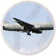 A Boeing Kc-767 Tanker Of The Italian Round Beach Towel