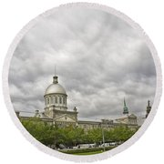 A Bonsecours Day  Round Beach Towel